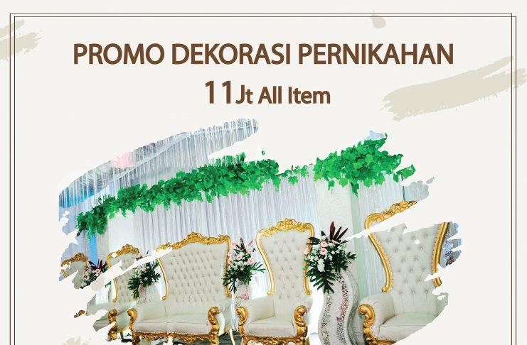 Promo dekorasi pernikahan
